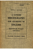 A concise bibliography for students of English   systematically arranged