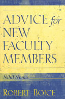 Thumbnail Advice for new faculty members