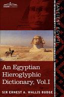 Pdf An Egyptian Hieroglyphic Dictionary