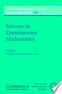 Surveys In Contemporary Mathematics