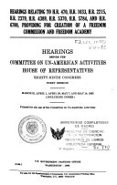 Hearings Before the Committee on Un American Activities  Eighty nint Congress  First Session