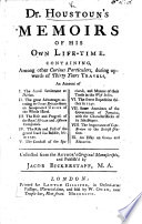 Dr H  s Memoirs of his own Life time     collected from the Author s original Manuscripts and publish d by I  Bickerstaff Book