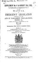 Manual of Emergency Legislation