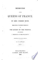 Memoirs of the Queens of France