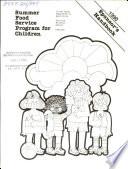 Summer Food Service Program for Children Book
