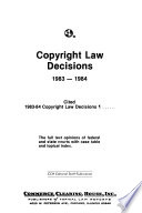 Copyright Law Decisions