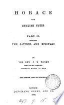 Horace, with Engl. notes by J.E. Yonge