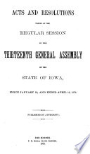 Acts and Joint Resolutions