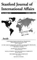 Stanford Journal of International Affairs