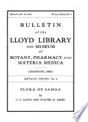 Bulletin of the Lloyd Library and Museum of Botany, Pharmacy and Materia Medica