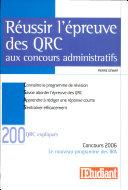 Réussir l'épreuve des QRC aux concours administratifs