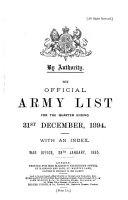 The Official Army List ... with an Index