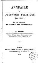Annuaire de l'économie politique