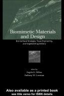 Biomimetic Materials And Design Pdf/ePub eBook