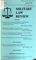 Military law review Book PDF