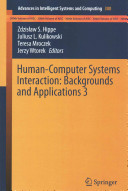 Human Computer Systems Interaction  Backgrounds and Applications 3
