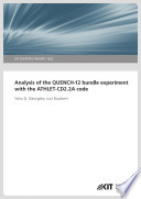 Analysis of the QUENCH 12 Bundle Experiment with the ATHLET CD2 2A Code  KIT Scientific Reports   7622  Book
