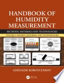 Handbook of Humidity Measurement  Volume 3