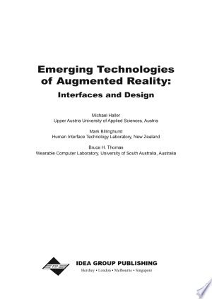 Read Book Emerging Technologies of Augmented Reality: Interfaces and Design Free PDF - Read Full Book