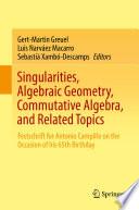 Singularities, Algebraic Geometry, Commutative Algebra, and Related Topics