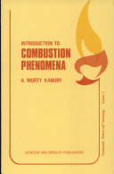 Introduction to Combustion Phenomena