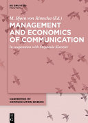 Management and Economics of Communication Pdf/ePub eBook