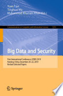 Big Data and Security Book