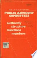 Public Advisory Committees