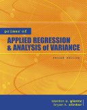 Primer of Applied Regression   Analysis of Variance