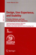 Design  User Experience  and Usability  Theories  Methods  and Tools for Designing the User Experience