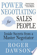 Power Negotiating For Salespeople PDF