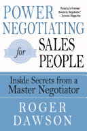 Power Negotiating for Salespeople
