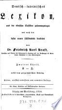Deutsch-lateinisches Lexikon