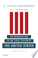 An Introduction to the Legal System of the United States  Fourth Edition