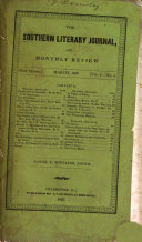 The Southern Literary Journal, and Magazine of Arts