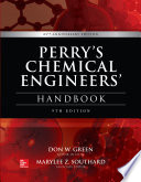 Perry s Chemical Engineers  Handbook  9th Edition Book
