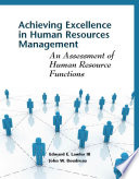 Achieving Excellence In Human Resources Management Book PDF