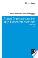 Social Entrepreneurship and Research Methods Book