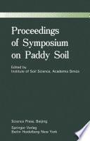 Proceedings of Symposium on Paddy Soils