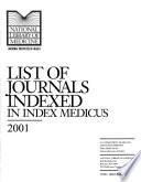 List of Journals Indexed in Index Medicus