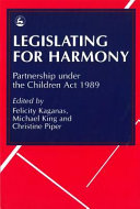 Legislating for Harmony Book