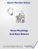 Renal Physiology Quick Review Acid Base Balance Book PDF