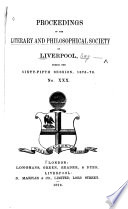 Proceedings of the Liverpool Literary & Philosophical Society