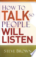 How to Talk So People Will Listen Book