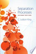 Separation Processes Book