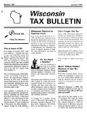 Wisconsin Tax Bulletin