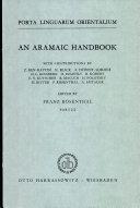 An Aramaic Handbook