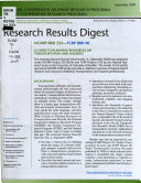 Research Results Digest   National Cooperative Highway Research Program Book