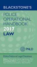 Blackstone s Police Operational Handbook 2017