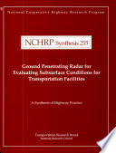 Ground Penetrating Radar For Evaluating Subsurface Conditions For Transportation Facilities Book PDF